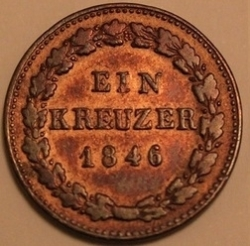 Image #2 of 1 Kreuzer 1846