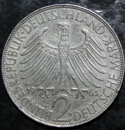 Imaginea #1 a 2 Mărci 1963 D - Max Planck