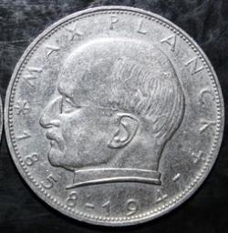 Imaginea #2 a 2 Mărci 1963 D - Max Planck
