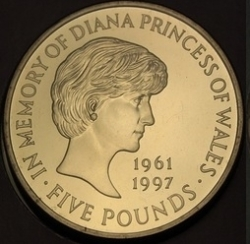 Imaginea #2 a 5 Pounds 1999 - Lady Diana