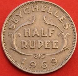 Image #2 of 1/2 Rupee 1969