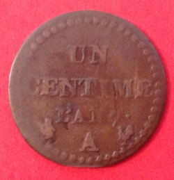 Image #1 of 1 Centime 1798 (L'AN 7)