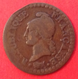 Image #2 of 1 Centime 1798 (L'AN 7)