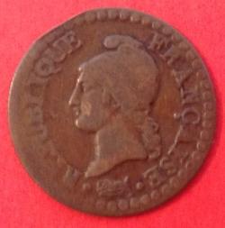 Imaginea #2 a 1 Centime 1798 (L'AN 7)