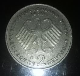 2 Mark 1970 G - Theodor Heuss