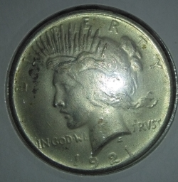 Image #2 of [COUNTERFEIT] 1 Dollar 1921