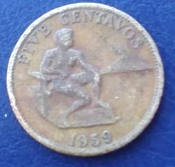 Image #1 of 5 Centavos 1959