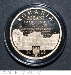 Image #1 of 50 Bani 2018 - 100 years since the union of Basarabia with Romania - Proof