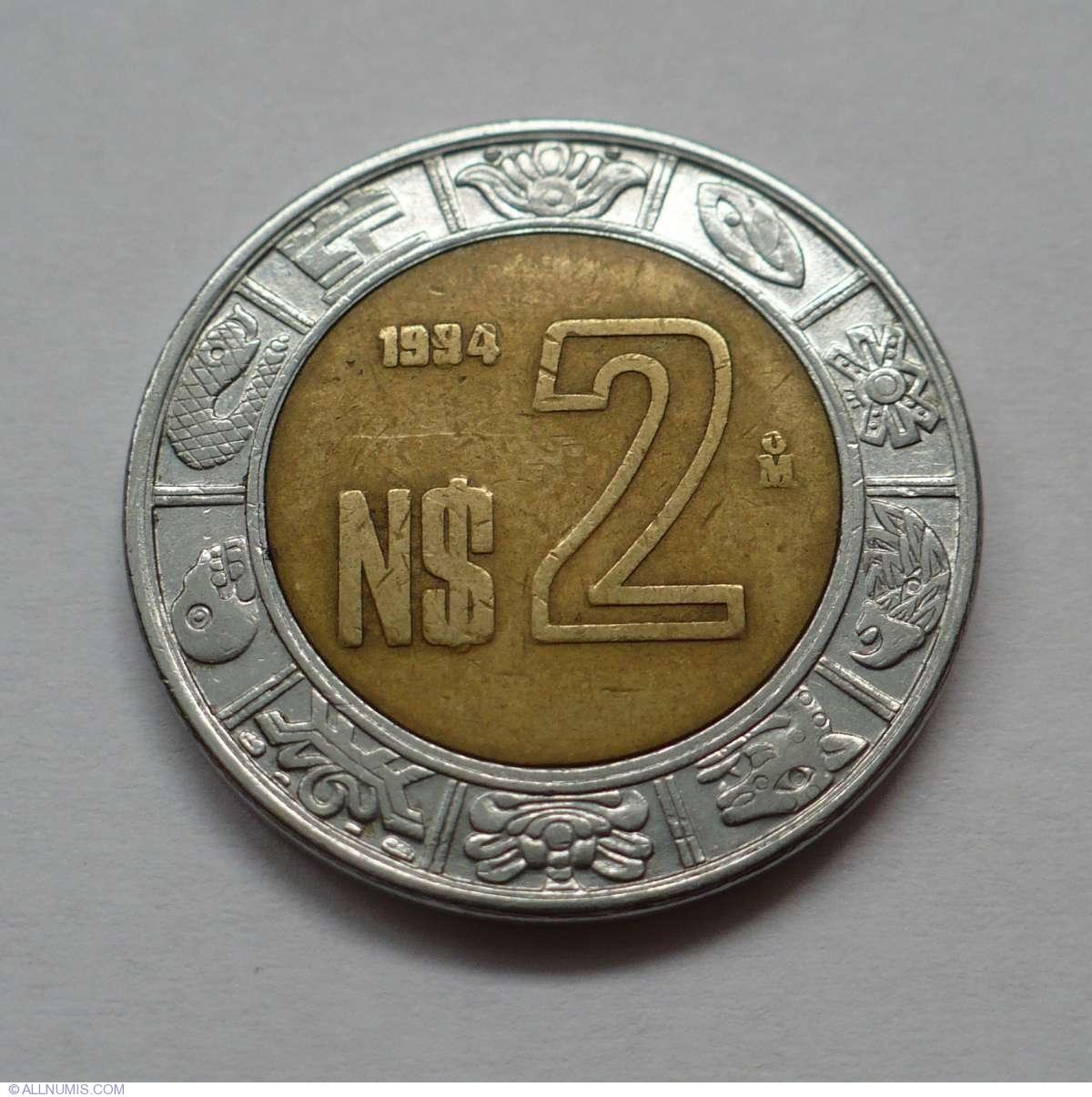 2 Nuevo Pesos 1994 United Mexican States 1991 2000