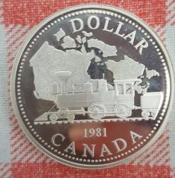 Image #1 of 1 Dollar 1981 - Trans-Canada Railway