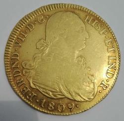 Image #1 of 8 Escudos 1809 P JF