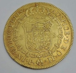 Image #2 of 8 Escudos 1809 P JF