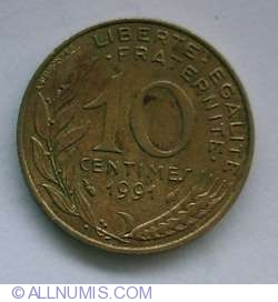 Image #1 of 10 Centimes 1991