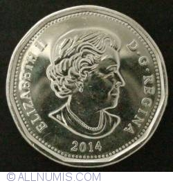 Image #1 of 1 dollar 2014 Olympic Lucky Loonie