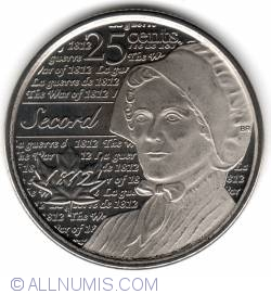 Image #1 of 25 Cents 2013 - Laura Secord