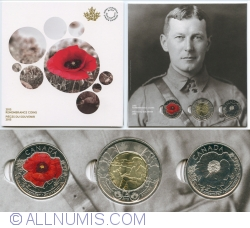 Image #2 of 2 $ and 25 ¢ 2015 Canada Remembrance - souvenir card