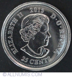 Image #1 of 25 cents 2015 Remembrance (color)