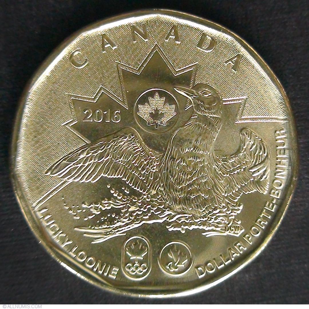 Canada 2016 BU Olympic 1 Dollar Canadian Lucky Loonie from mint roll