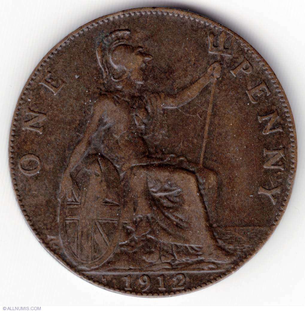 Penny 1912 H, George V (1910-1936) - Great Britain - Coin - 11311