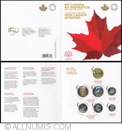 Image #1 of $2 - $1 - $0.25 - $0.10 - $0.05  2017 150th anniversary of Canada
