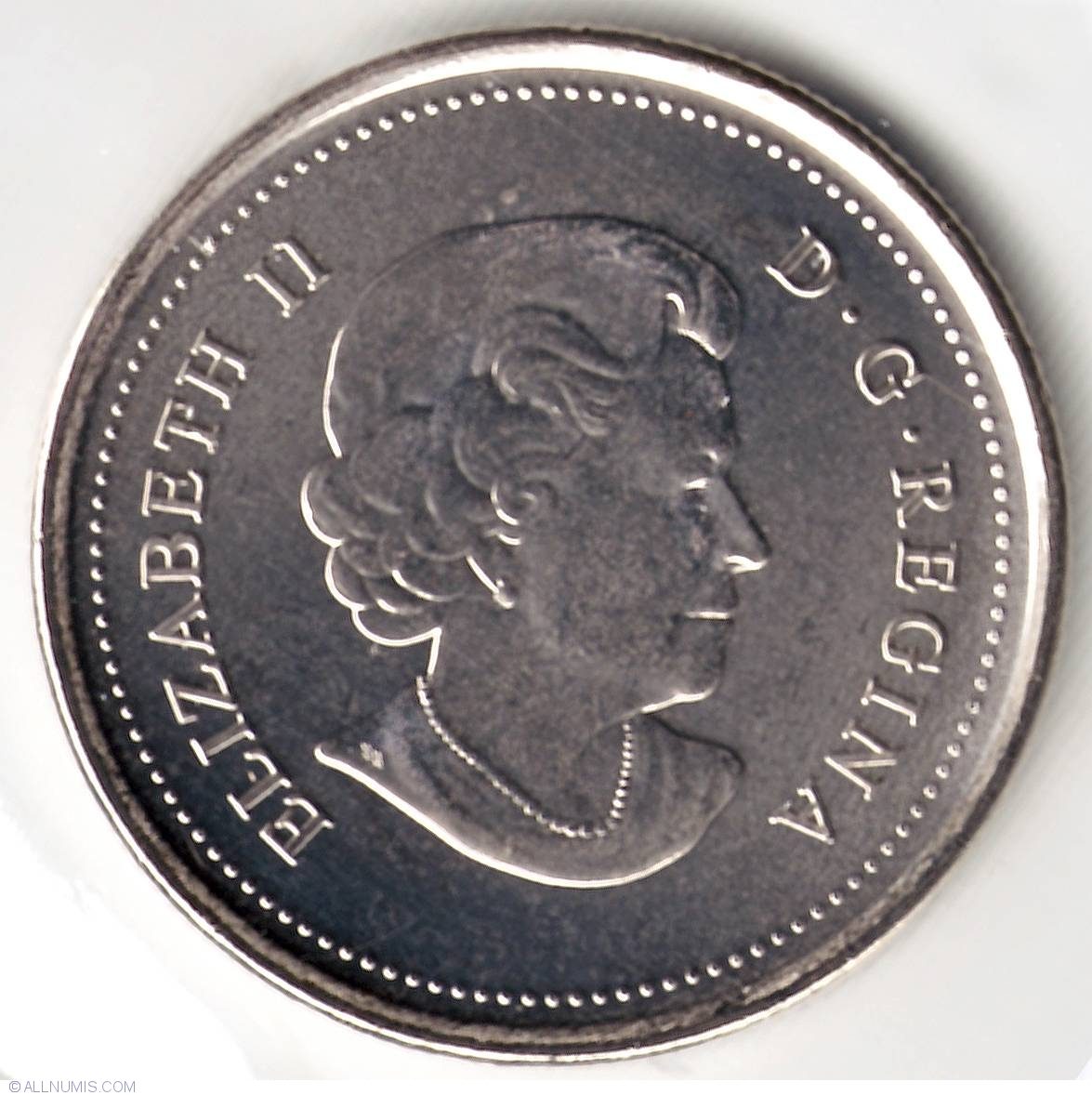CANADA 25 CENTS QUARTER QEII CANADIAN BISON 2011 COLOR COIN UNC