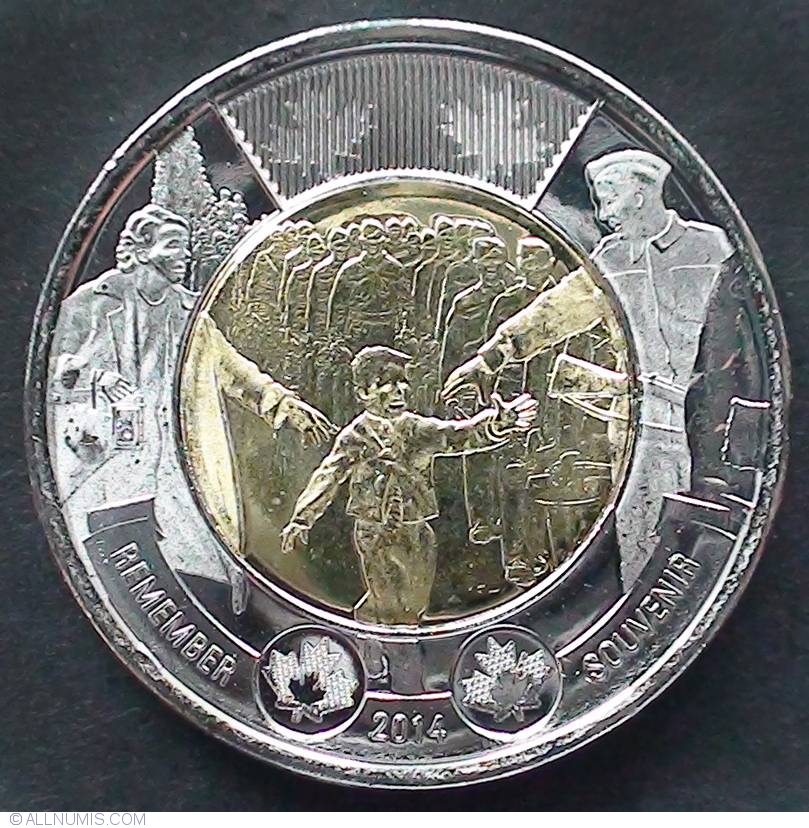 WAIT FOR ME  Toonie UNC 2014 Canada $2 DADDY
