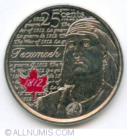 Image #2 of 25 Cents 2012 -Tecumseh (color)