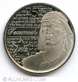 Image #2 of 25 Cents 2012 - Tecumseh