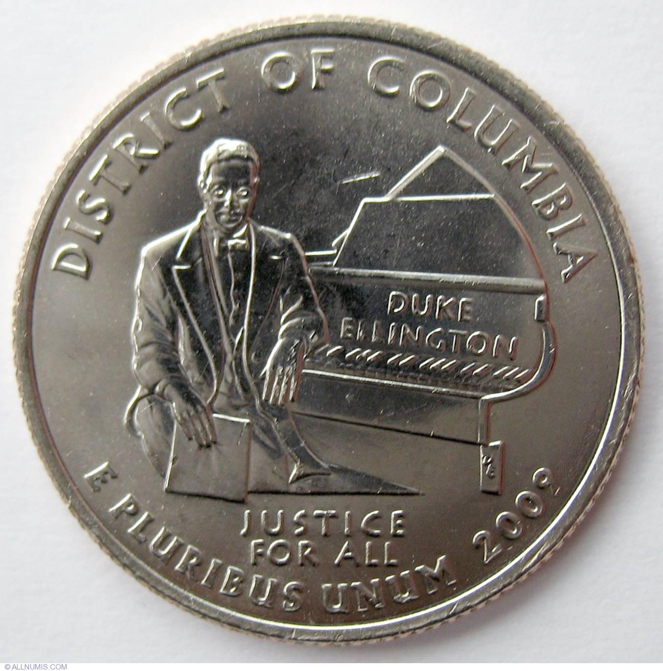 2009 P and D District Of Columbia Washington US Territories Quarters Set