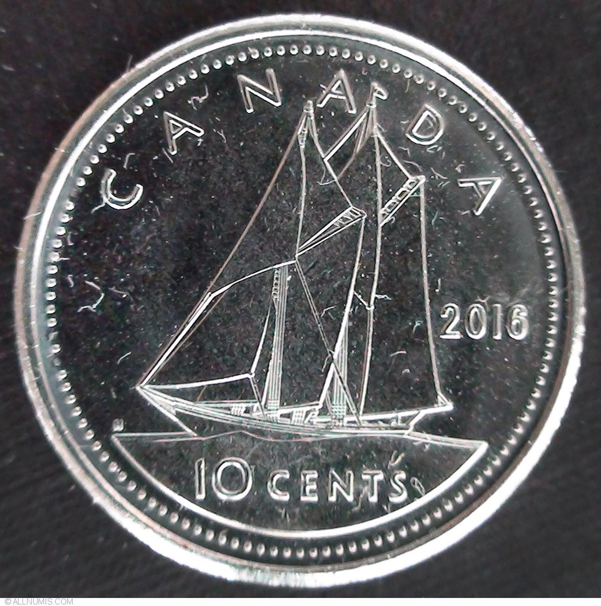 10 cents 2016, Elizabeth II (1953-present) - Canada - Coin ...