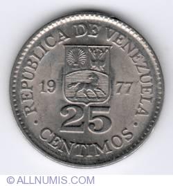25 Centimos 1977