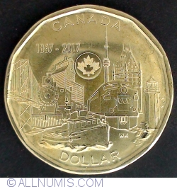 Image #2 of 1 dollar 2017 150th anniversary of Canada
