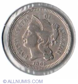 Three Cent Piece 1865