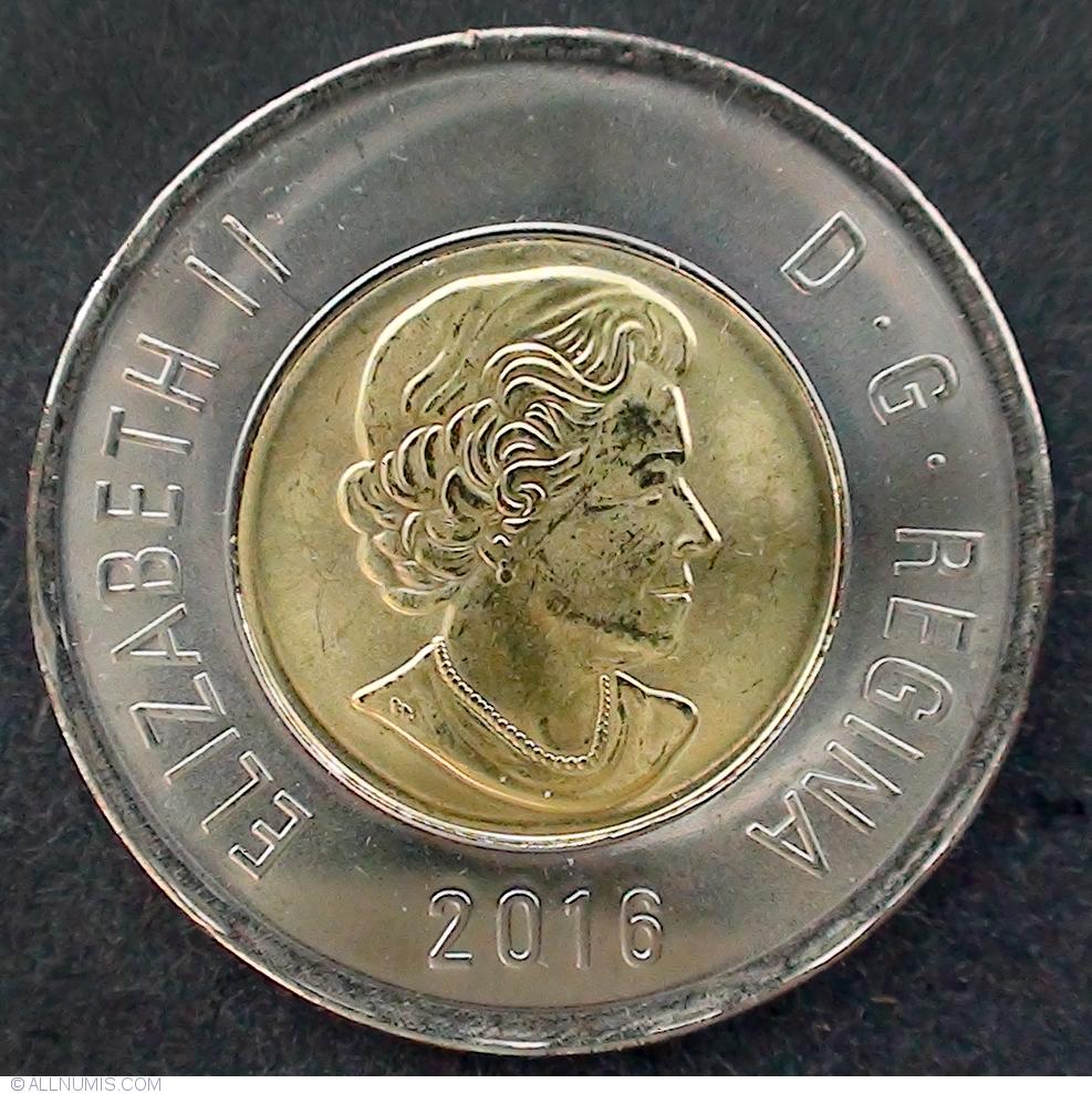 2 Dollars 2016 Elizabeth Ii 1953 Present Canada