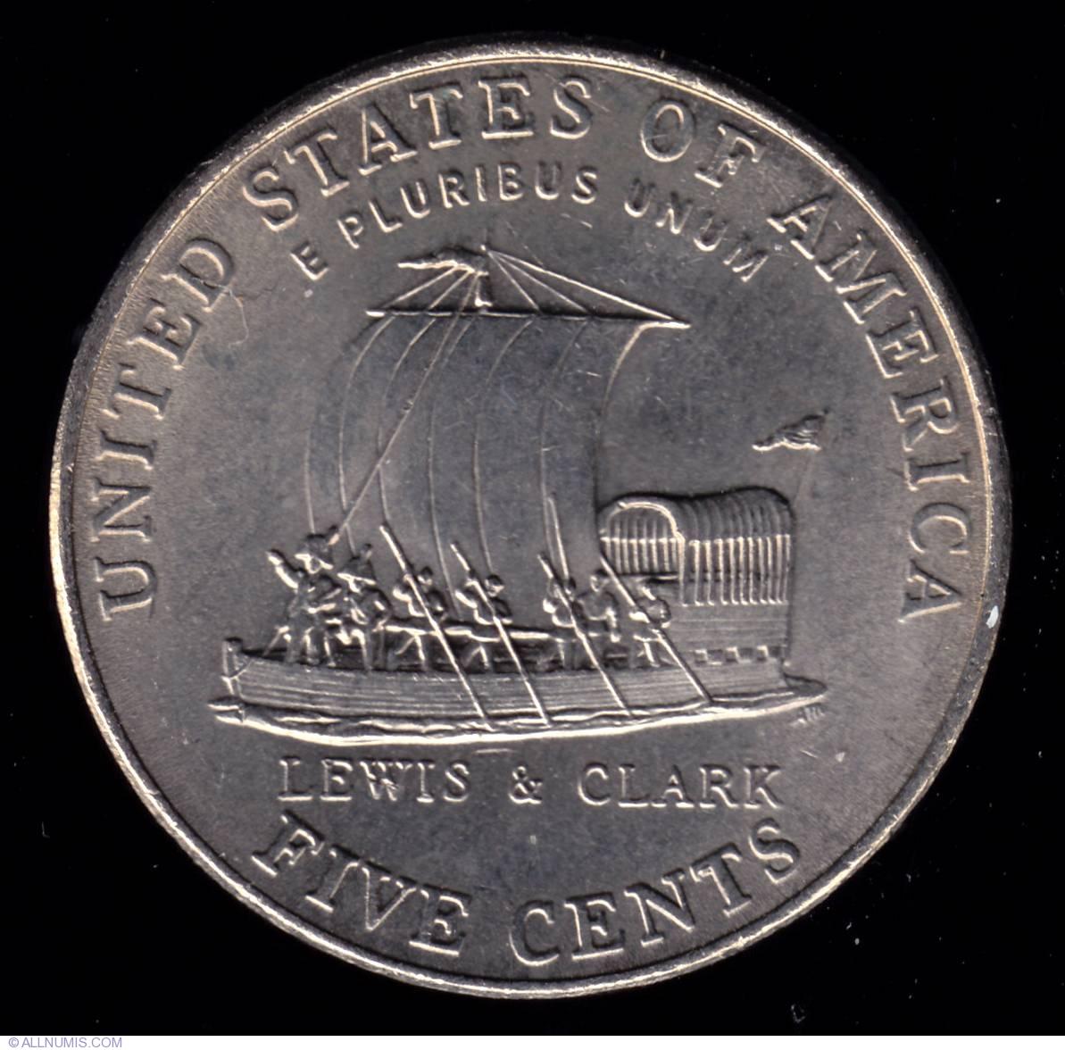 Jefferson Nickel 2004 P Keelboat, Nickel (Five Cents), Jefferson