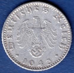 Image #2 of 50 Reichspfennig 1943 A