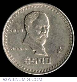 Image #2 of 500 Pesos 1989