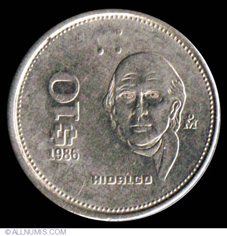 10 Pesos 1986 United Mexican States
