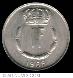 Image #2 of 1 Franc 1968