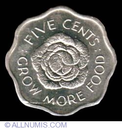 Image #2 of 5 Cents 1975