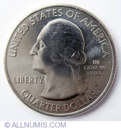 Image #1 of Quarter Dollar 2010 D - Arkansas Hot Springs