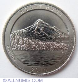 Image #2 of Quarter Dollar 2010 D - Oregon Mount Hood