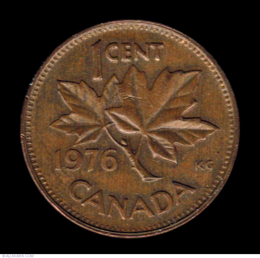1 Cent 1976 Elizabeth Ii 1953 Present Canada Coin 7414