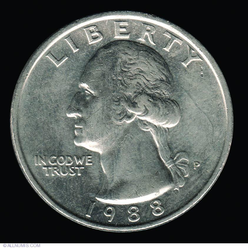 Quarter dollar 1988 набор столовый новинка ссср цена