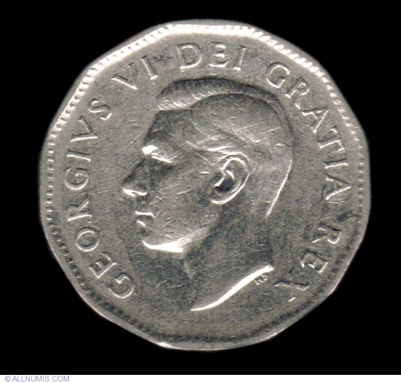5 Cents 1951 - 200 years since nickel identification, George
