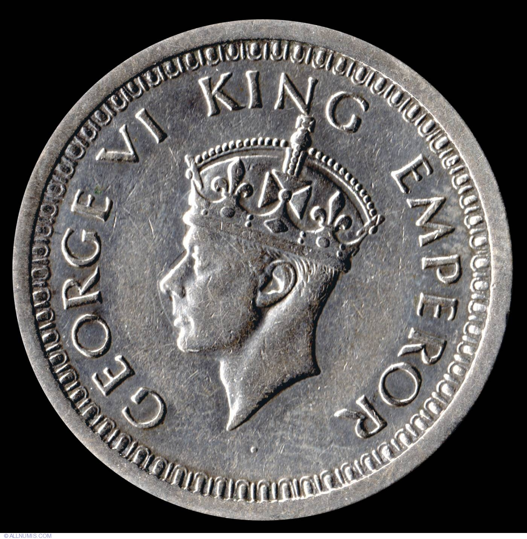GEORGE VI 1RUPEE BRITISH INDIA 1//2 RUPEE 1947-3 COINS SET 1//4 RUPEE