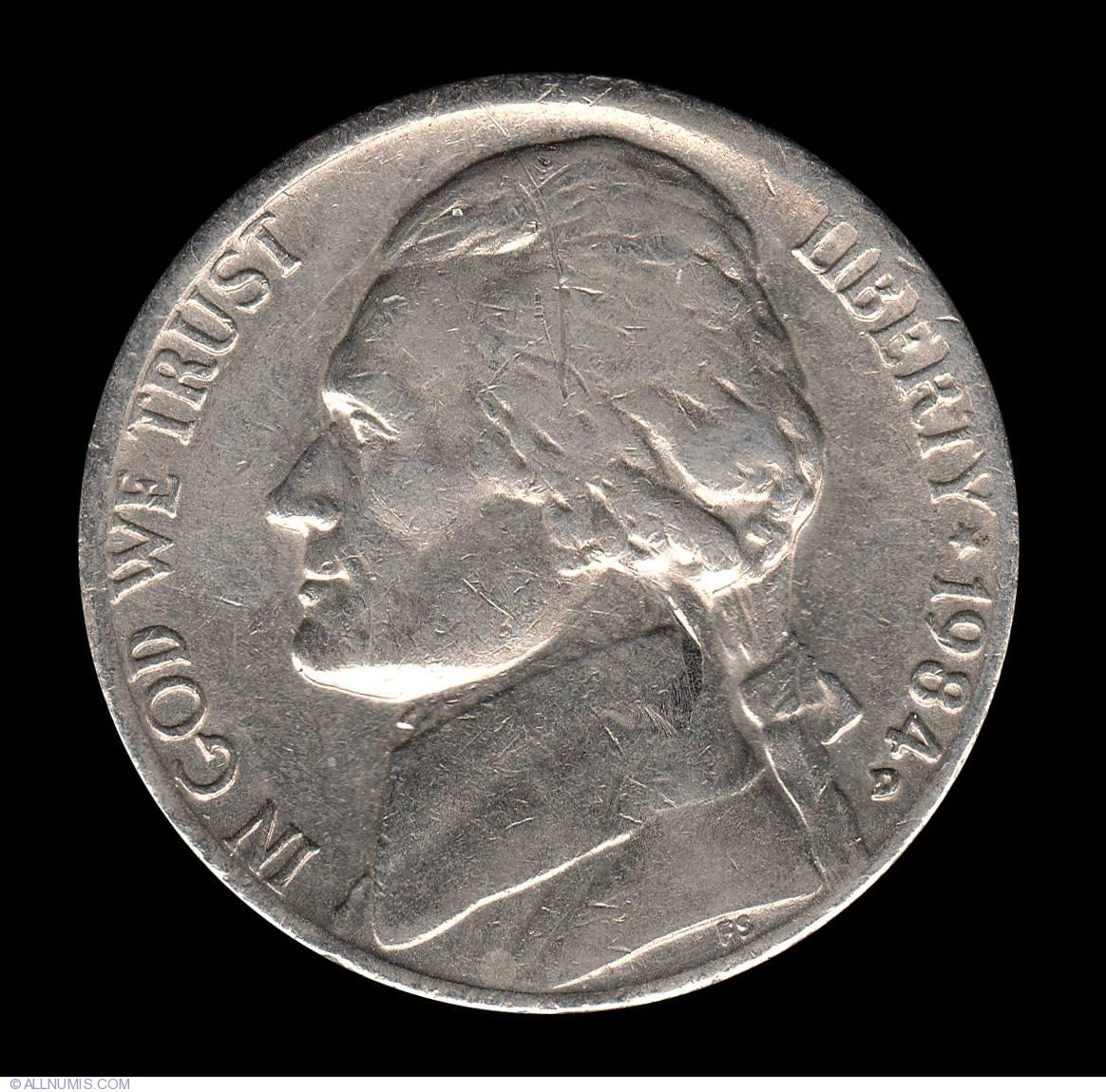 1984 P/&D Jefferson Nickels