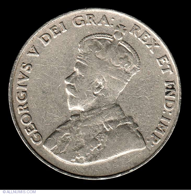 Coin Of 5 Cents 1927 From Canada Id 8002