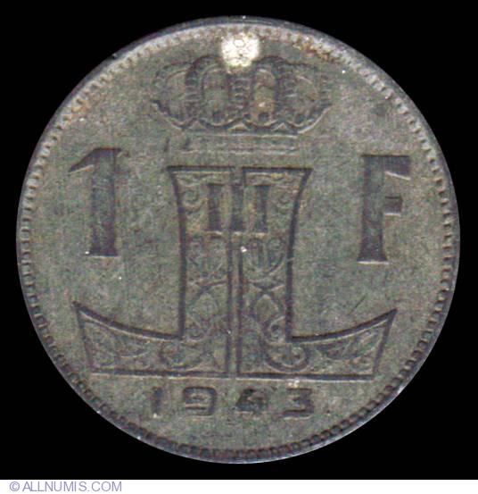 1951 belgique 1 franc coin value