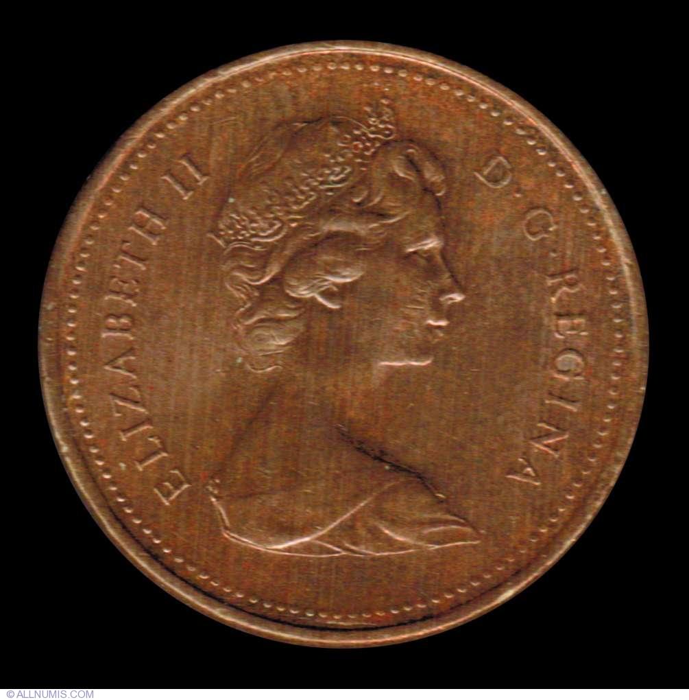 1 Cent 1989 Elizabeth Ii 1953 Present Canada Coin 7633
